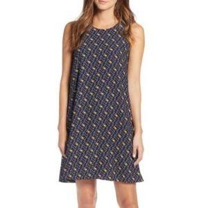 Halogen Navy N Emma A Line Geometric Dress
